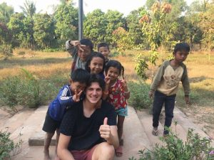 Volunteer teacher in Cambodia