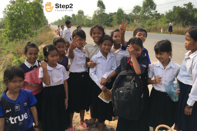 Students in Cambodia school charity